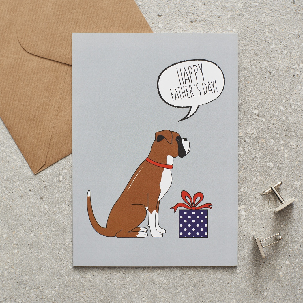 Boxer Father's Day Card