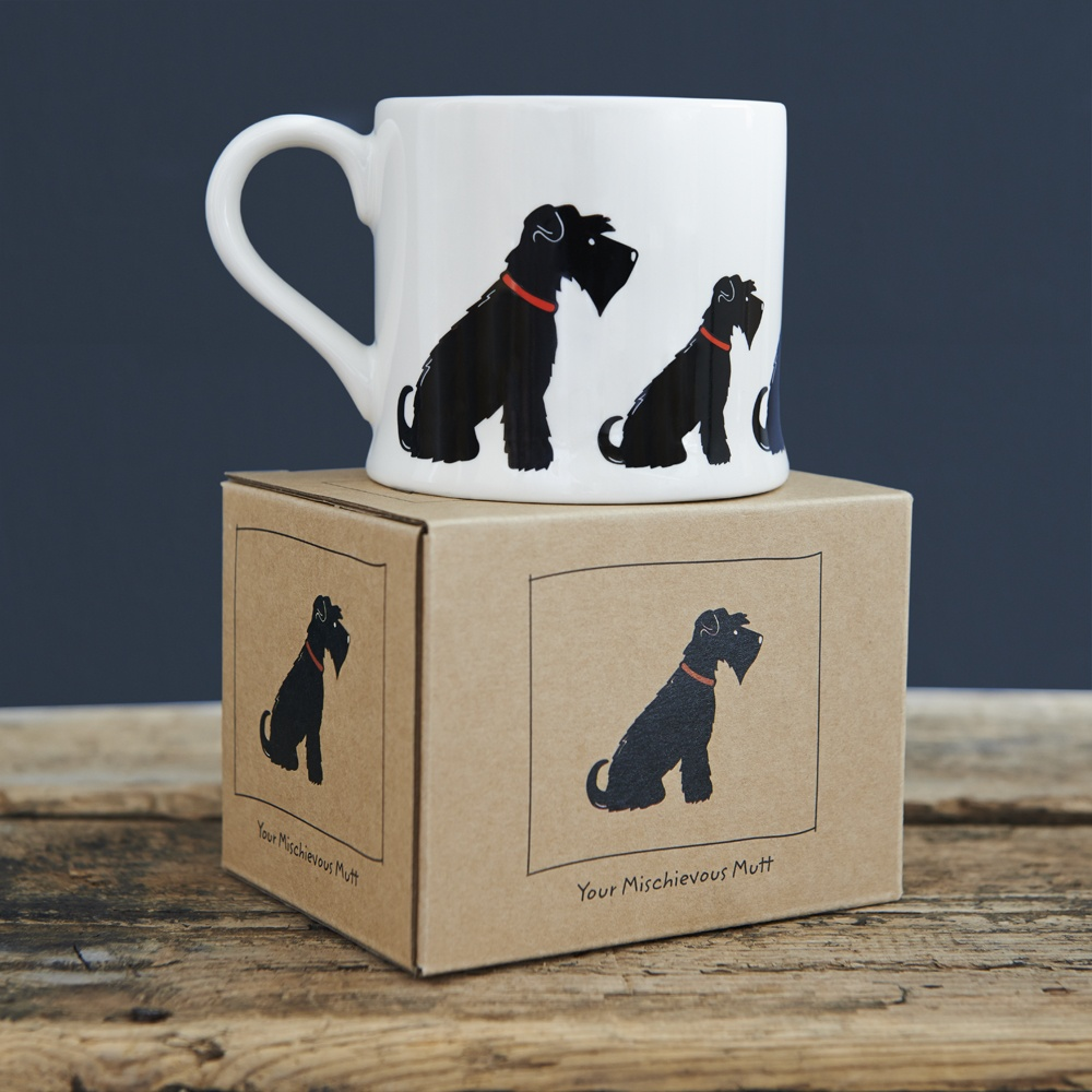 Black Schnauzer mug and gift box