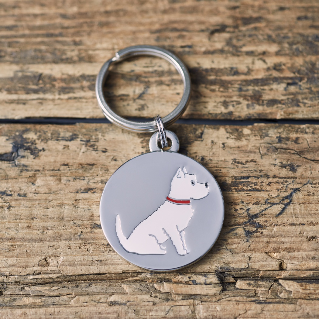 Westie West Highland White Terrier Dog ID Tag