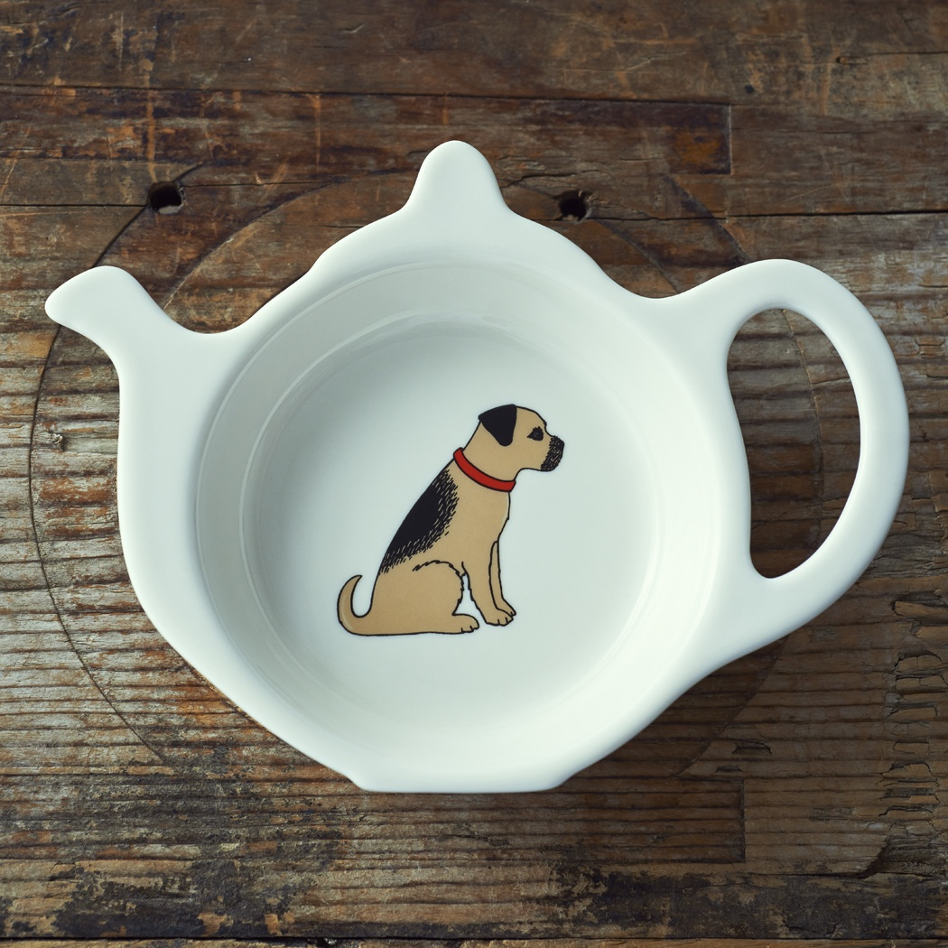 Border Terrier Teabag Dish