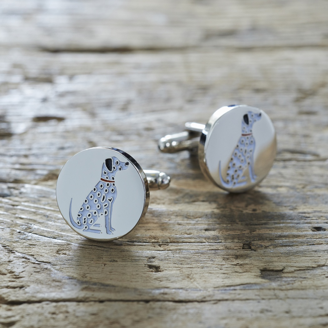 Dalmatian Cufflinks and Dog Tag Set