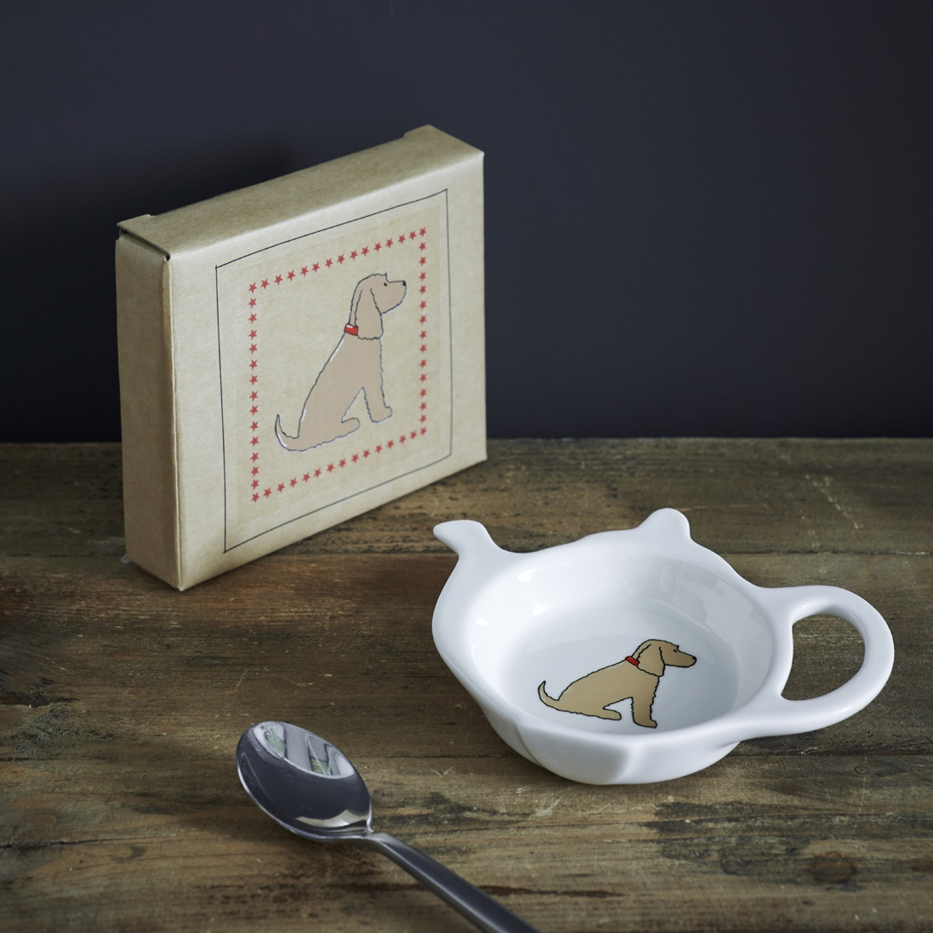 Golden Cocker Spaniel Teabag Dish