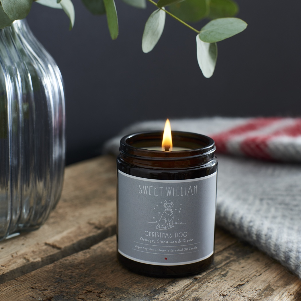 Christmas Dog Organic Candle £25.00