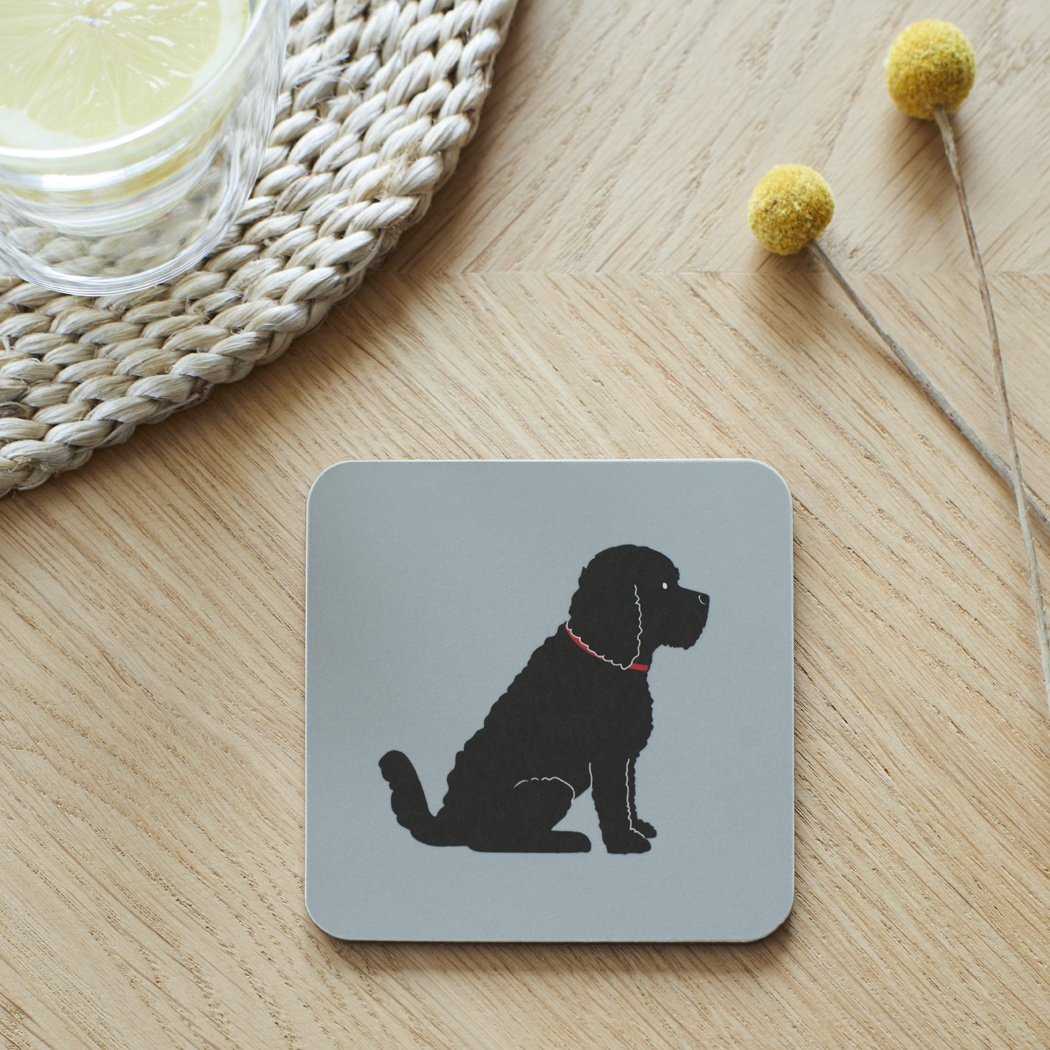 Black Cockapoo / Labradoodle Coaster