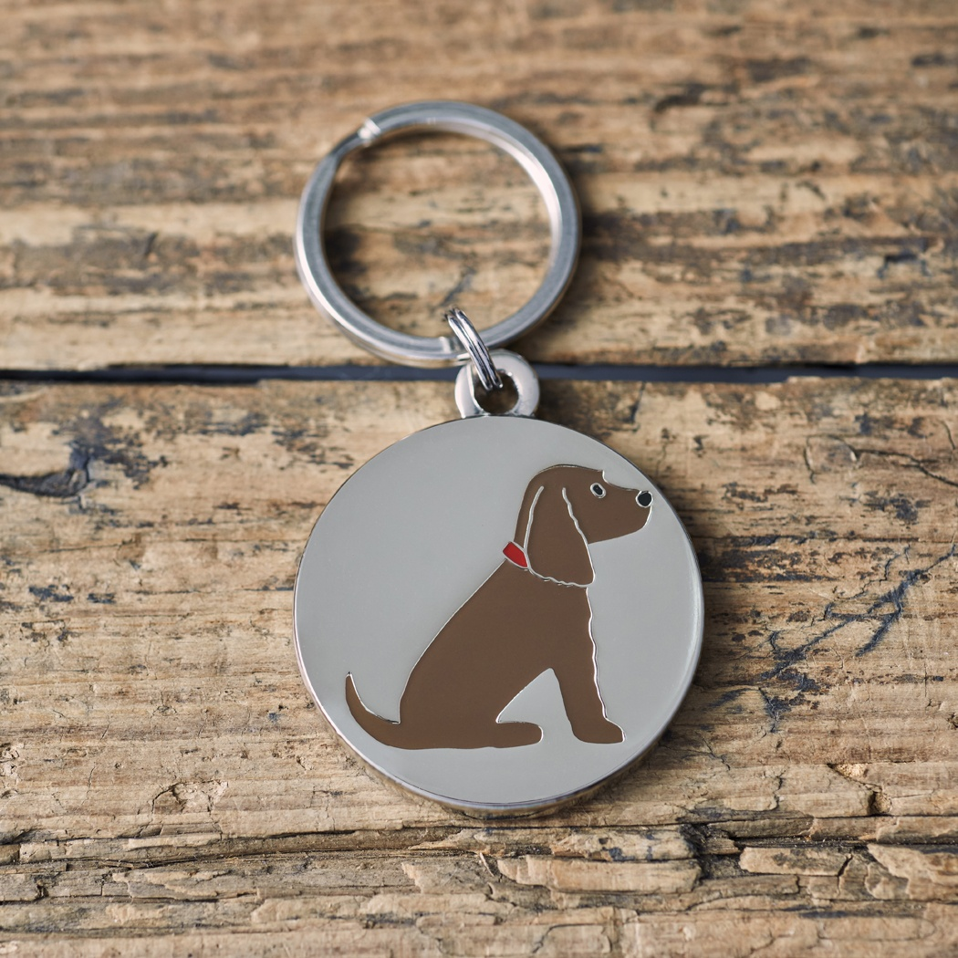 Brown Cocker Spaniel Dog ID tag